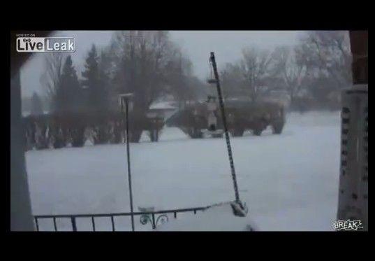 ロシア人女性による寒中みそぎ