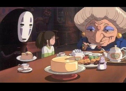 ジブリ飯・銭婆の紅茶風味のバタークリームケーキ(千と千尋の神隠し)