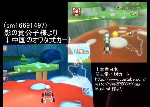 Mole Kart と マリオカート(本家)の比較