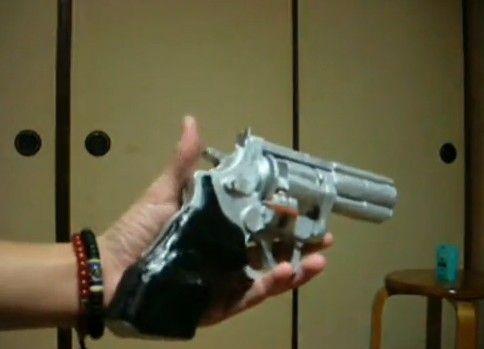 小型併用リボルバーゴム銃