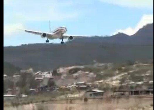 ボーイング757の危険な着陸