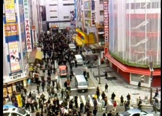 東日本大震災 3月11日地震発生時の秋葉原