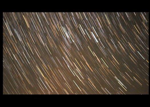 微速度撮影で見る星 in 野辺山