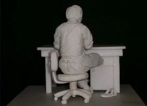 石粉粘土で宮崎駿監督を作ってみた