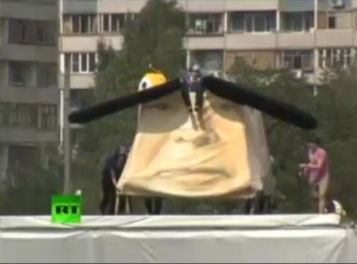 ロシアの鳥人間コンテストがフリーダム