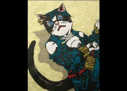 ジョジョっぽい猫画像