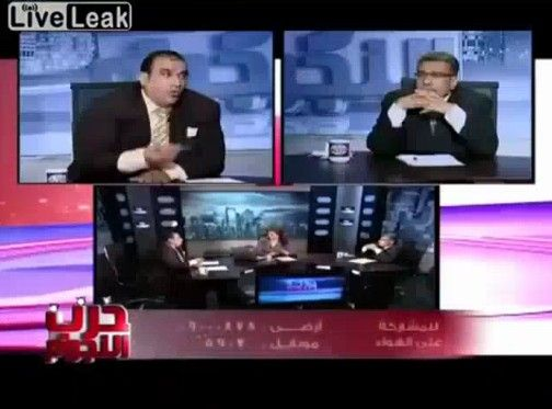 エジプトの討論番組で大乱闘