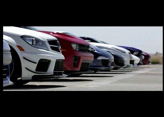 世界の最新スポーツカー9台によるドラッグレース
