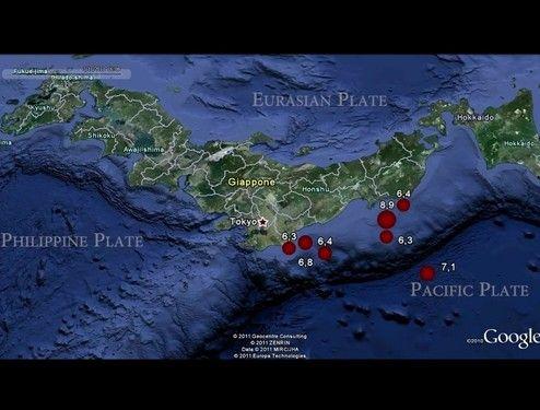 発生した地震を可視化したのが凄すぎる件