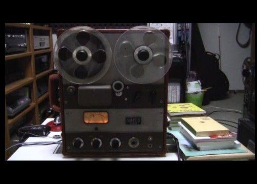 1955年製 AMPEX600(真空管式)で「鳥の詩」を録音/再生してみた