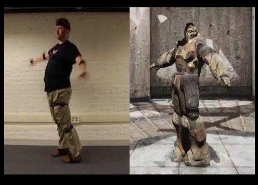 プレイヤーが体を動かすとゲームの中の主人公が同じ動きをする!