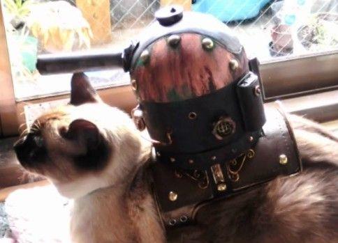【にゃんこれ】猫用単装砲を作ったった【スチームパンク風】