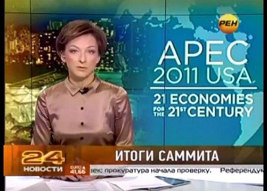 ロシアのニュースキャスターがオンエア中に中指突き立て