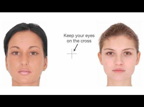 顔の歪み効果