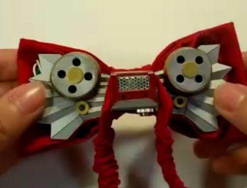 事件が解決した時のために蝶ネクタイ型変声機作ってみた