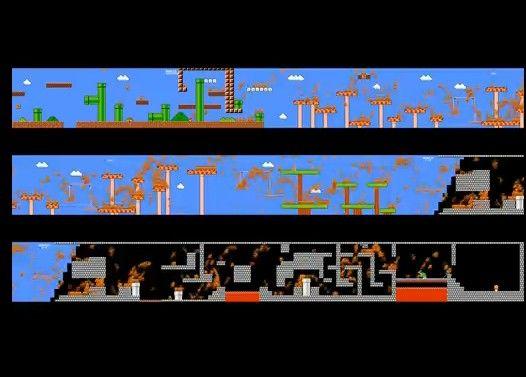 もし一つの画面で974人が『スーパーマリオブラザーズ』をプレイしたら
