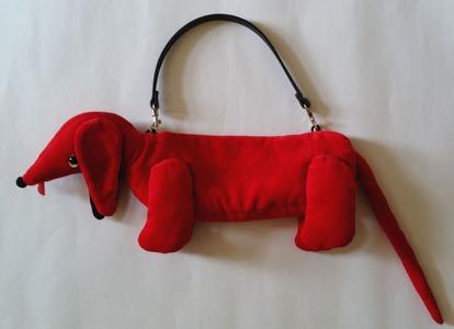 赤わんこバッグ1