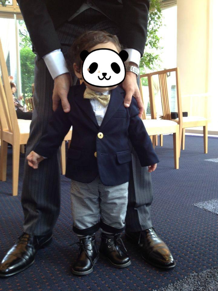 ちなみに1歳ともうすぐ2ヶ月75cm、9.5kgくらいの体格普段は80~90サイズの服を着ています