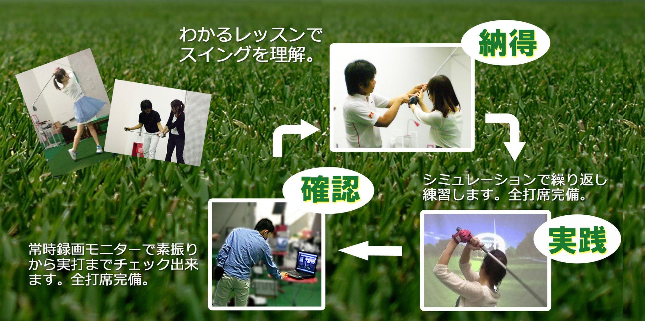 大阪の堺筋本町駅前徒歩1分にあるゴルフスクールの教え方