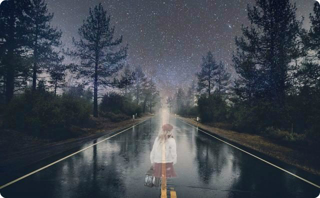 道路、幽霊