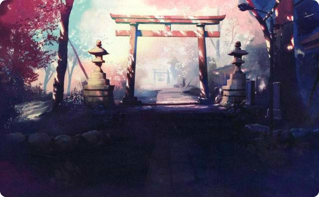 神社、幻想的