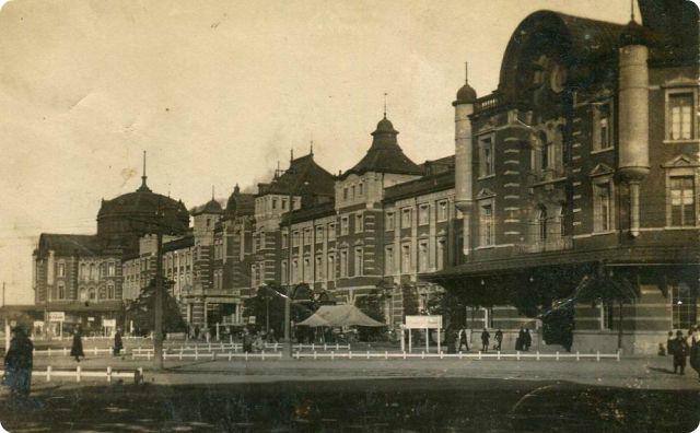 東京駅、昔の写真