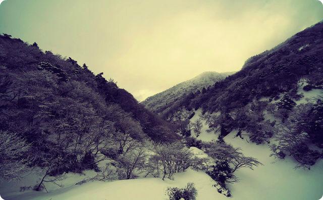 雪山、測量、怖い話