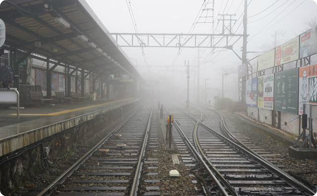 駅、ホーム、怖い話