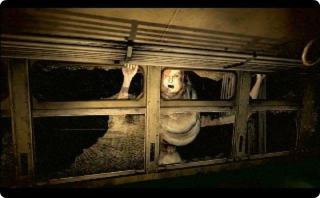 サイレン、ホラー、ガラス越し、怖い