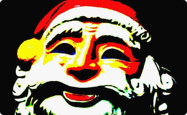 サンタクロースのお面