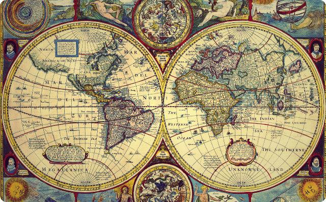世界地図、謎