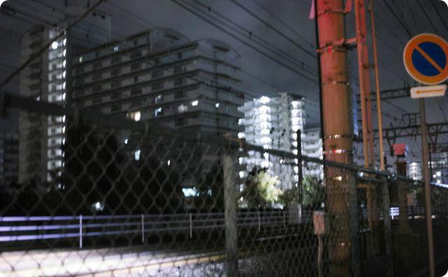 夜、町、景色
