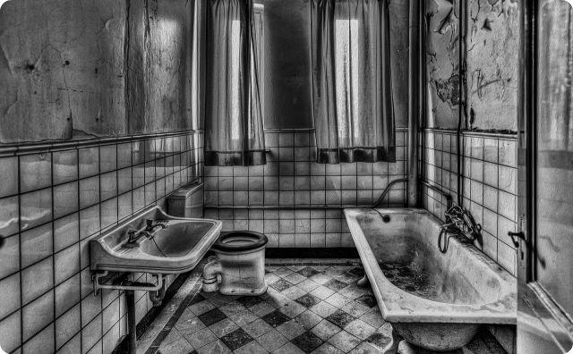お風呂、不気味、顔