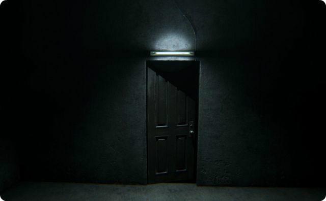 ドア、戸、暗い部屋