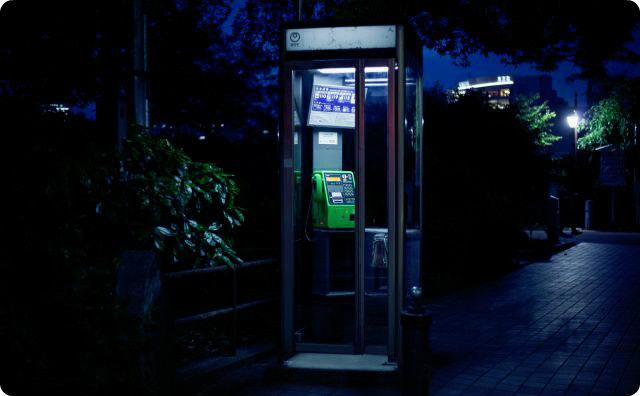 電話ボックス、公衆電話