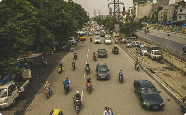 ベトナム、バイク