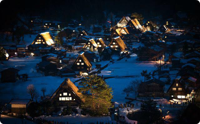 日本、映画のような話、岐阜、白川郷