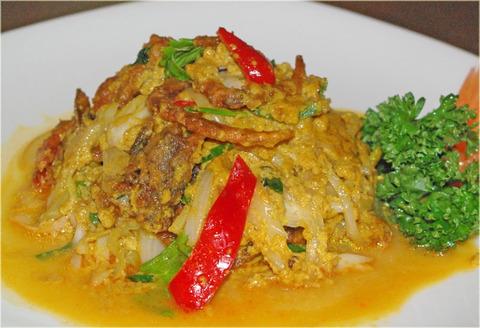 New Prawjai〈蟹のカレー風味炒め〉