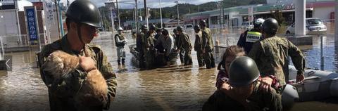 台風19号自衛隊救助