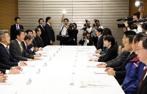 台風19号政府対策本部会議