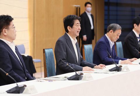 新型コロナ会議・安倍首相