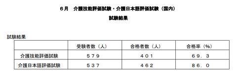 特定介護6月国内試験結果