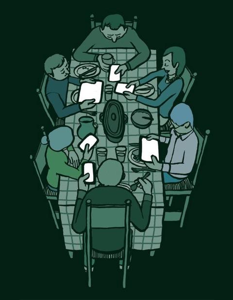 賑やかな食卓