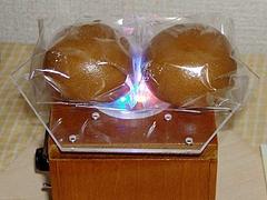 冷凍饅頭を波動処理