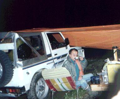 ジムニー野宿夜