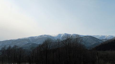 西和賀町の雪山_20210327