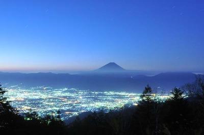 甘利山_20131013_2145富士山s