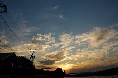 富士見の夕日