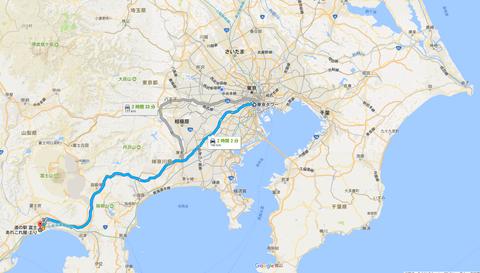 東京から富士
