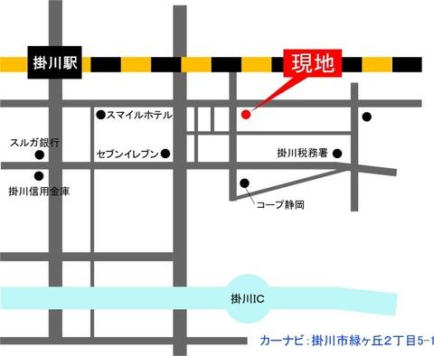 掛川見学会地図